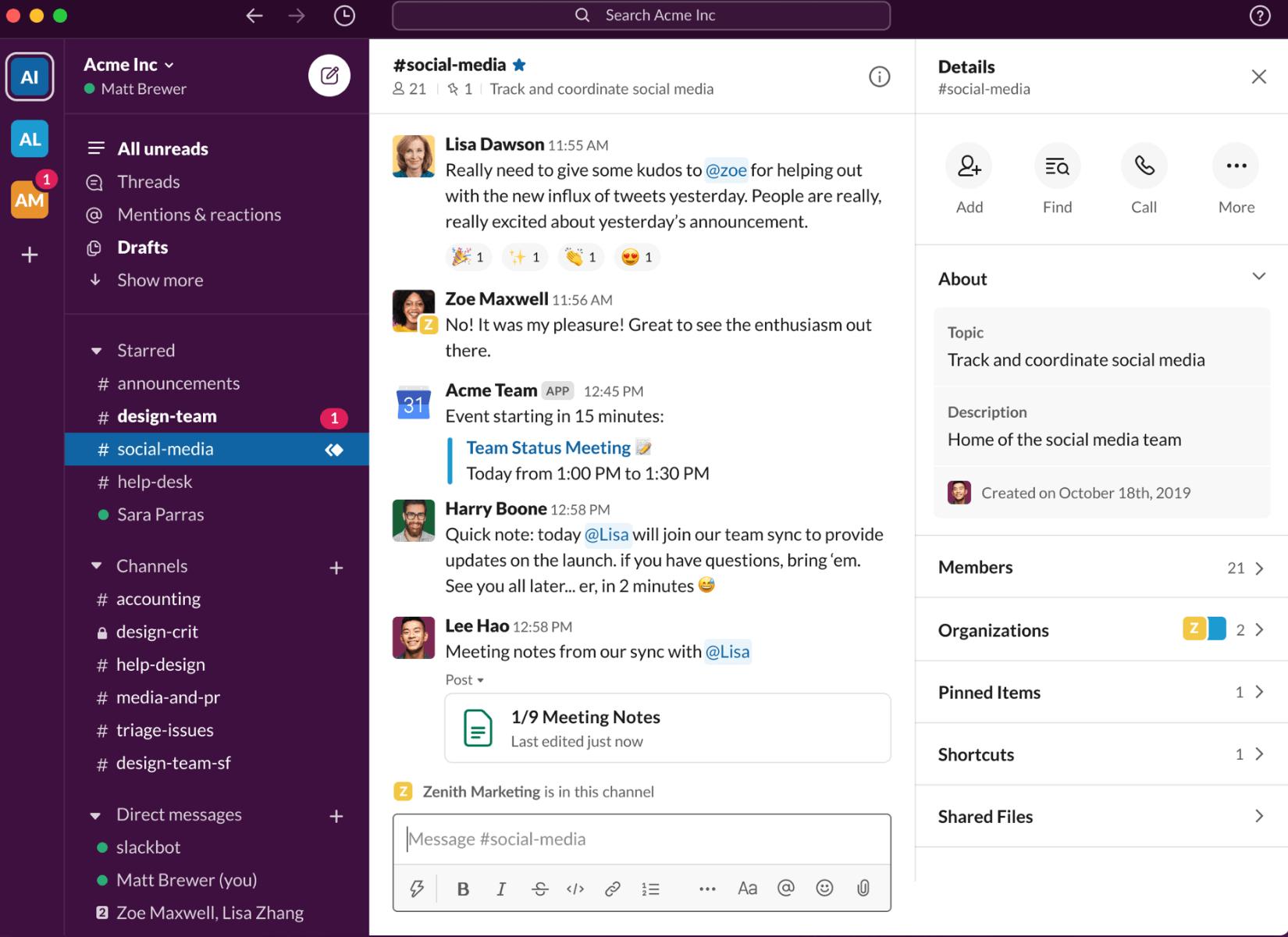 Slack — корпоративный мессенджер